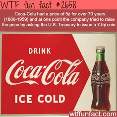 Coca-Cola price 100 years ago - WTF fun facts