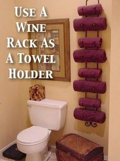 Wine rack towel holder - 50 Decorative Rustic Storage Projects For a Beautifully Organized Home