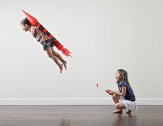 Creative and funny photographs of two sisters captured by their father Jason Lee, an American photographer ...