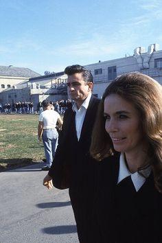 Johnny Cash and June Carter Cash at Folsom Prison (1968)