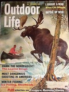 Outdoor Life Magazine December 1961 I Fought A Bear Winter Fishing Fishing Magazines, Old Magazines, Magazine Art, Magazine Covers, Outdoor Art, Outdoor Signs, Outdoor Life Magazine, Vintage Ads, Vintage Sport