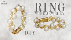 Wire Jewelry Designs, Diy Jewelry, Jewlery, Ring Tutorial, Diy Rings, Wire Wrapped Rings, How To Make Diy, Diy Accessories, Wire Wrapping