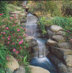 Garden Ideas On A Hill ideas for landscaping a hill with waterfalls and beautiful water