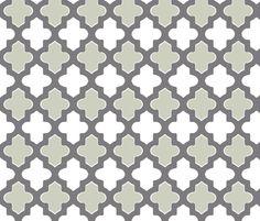 Moroccan_Gray fabric by fridabarlow on Spoonflower - custom fabric