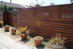 Horizontal Slated Fence