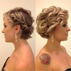 Penteado de festa para cabelo curto,   dois penteados semi preso lindos e coques!