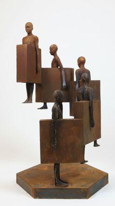 Jesús Curiá - Spiral, 2013, bronze, iron