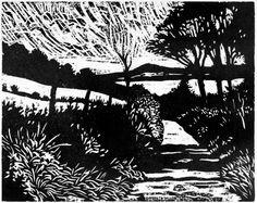 Lane and Loch- Hugh Bryden - woodcut