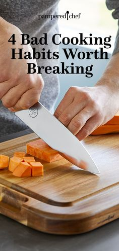 Here are four common bad cooking habits that are easy to break and can help you eat better and healthier, too! Cooking Tips, Cooking Recipes, Chef Blog, Best Chef, Pampered Chef, Kitchen Essentials, Healthy Eating, Independent Consultant, Easy