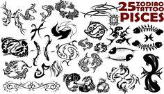 25 Zodiac Pisces Tattoo Designs Tattoos Of Zodiac Tattoos Pisces, Pisces Tattoo Designs, Tattoo Designs For Girls, Pisces Zodiac, Tattoo Designs Men, Zodiac Signs, Time Tattoos, Sexy Tattoos, Tatoos