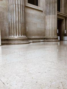 Ancient and modern connected. Limestone surface. Hier geht's zu meiner Home & Interior Seite. London, British Museum, Home Interior, Garage Doors, Instagram, Outdoor Decor, Modern, Home Decor, Architecture