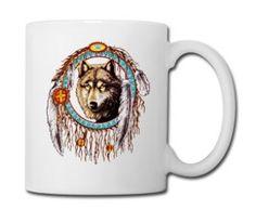 Wolf dream catcher Indian Native - Full Color Mug #mug #travelmug #sugarskull #skull #skeleton #bone #hallowen #nightmare #monster #dracula #zombie #hunter #evil #devil #daemon #magic #witch #voodoo #kingdom #animal #animalkingdom #ghost #vampire #hauntedmansion #bird #lion #beast #jungle
