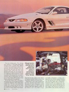 """""""Saleen R"""", Motor Trend, April 1996 Sn95 Mustang, Ford Mustang Saleen, Ford Mustangs, Stop Light, The Old Days, Dream Garage, Hot Cars, Corvette, Have Time"""
