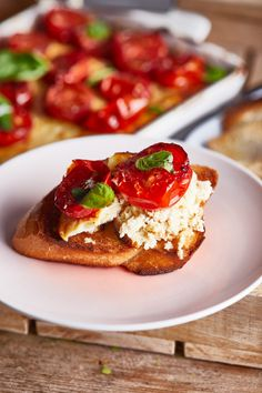Bruschetta, Ricotta, French Toast, Food And Drink, Breakfast, Ethnic Recipes, Morning Coffee