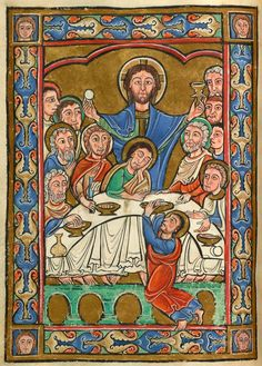 Vita Christi (Life of Christ) - Medieval & Renaissance Manuscripts Online - The Morgan Library & Museum Medieval Tapestry, Medieval Books, Medieval Manuscript, Medieval Art, Illuminated Manuscript, Religious Images, Religious Art, Romanesque Art, Life Of Christ