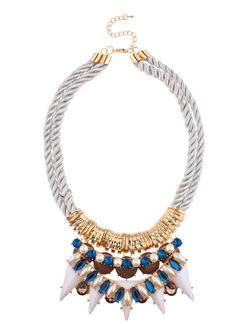 Elements by Stassi x Shop Prima Donna - Hydrogen Rope Strand Necklace Blue/Gray