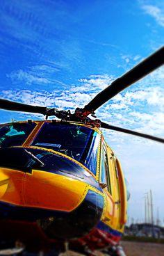 Helikopter op Vlie/koninklijke luchtmacht. Netherlands