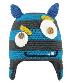 Een monsterlijk leuke muts van Barts! De Monster Beanie heeft een gebreid patroon en diverse opvallende details. (€26,99)
