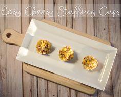 Easy Cheesy Stuffing Cups #recipe #TasteTheSeason #ad