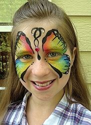 Butterfly Face Painting by Mystical Parties. Serving Metro Atlanta. ww w.MysticalParties.net
