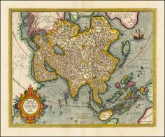 Asian Old Map
