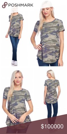 Arriving soon! French Terry camo top! Super soft lightweight camo French Terry long top! Tops