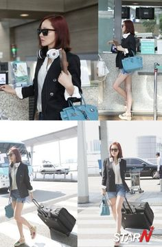 Um Jiwon's stylish airport fashion