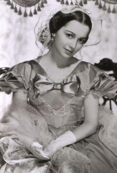 Olivia de Havilland en Lo que el viento se llevó .: