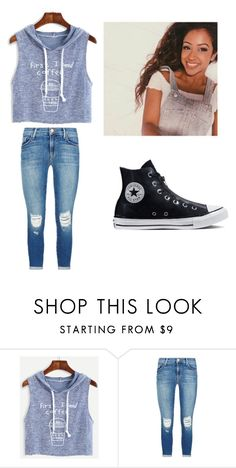 """liza koshy likes my outfit (lol)"" by dawnielle-heath on Polyvore featuring J Brand and Converse"