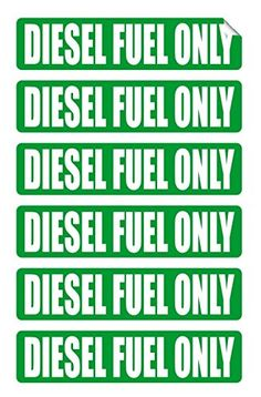 Huis DIESEL FUEL ONLY  STICKER decal  9 x  3.5  in Color WHITE