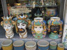TAORMINA Sicily Italy, Ceramic Planters, Moorish, Sicilian, Amalfi Coast, Marsala, Terra, Ceramic Pottery, Mood Boards