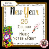 New Year Music: 26 New Year Music Colouring Pages