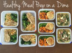 healthy meal prep for the busy professional and around $3 a meal!