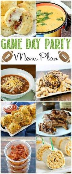 Make planning a Game Day Party Menu easy with this Game Day Party Menu Plan! From appetizers to beverages and desserts, if you need some ideas, this is the post for you.