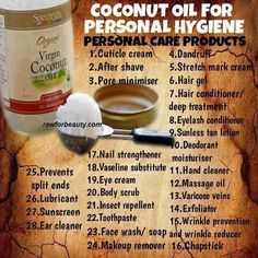 Coconut oil uses so many to mention. It's a life saviour for your health and beauty. Polenisian women who use and eat coconut oil look 10 years younger than western women. Ditch the expensive creams this is by far the best! Benefits Of Coconut Oil, Coconut Oil For Skin, Coconut Cream, Coconut Oil On Eyelashes, Uses For Coconut Oil, Eyelash Conditioner, Stretch Mark Cream, Cuisine Diverse, Personal Hygiene