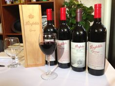 Just some of our extensive Penfolds Grange collection.