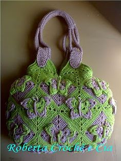 Crochet butterfly bag