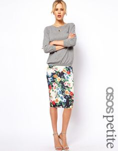 Found this floral pencil skirt at Newgen, and i have to get it ...