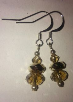 Smokey Quartz facet & Swarovski Crystal by designsNcraftsbyLizD