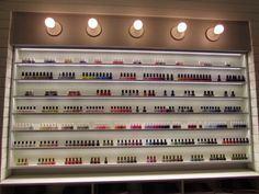 Nail polish wall at