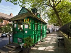 There are 13 surviving Cabmen's Shelters in London and all are still used by cab drivers. They have been restored by English Heritage and are all listed.