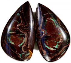79.2 CTS PAIR BOULDER OPAL CF864  pair  boulder opal , solid opal , australian opal
