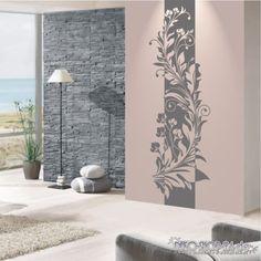 WANDTATTOO-Banner-Blumen-Ranke-Blueten-Ornament-Blaetter-Motiv-679-XL