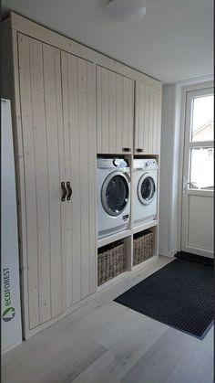 Closet Redo, Laundry Closet, Room Closet, Laundry Room Inspiration, Laundry Room Design, Simple Bathroom, Küchen Design, Home Decor Kitchen, Home Interior Design