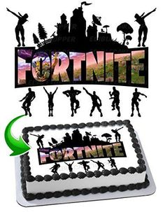 Looking for Fortnite Party Supplies? Are you planning a themed Halloween Fortnite Party? You'll find plenty of great ideas for your Fortnite party! Birthday Sheet Cakes, Custom Birthday Cakes, 12th Birthday, Boy Birthday Parties, Cake Images, Edible Cake, Eat Cake, Tinkerbell, Cake Toppers