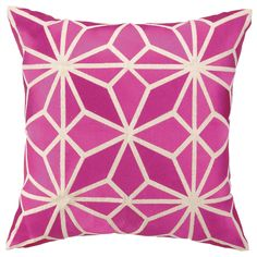 Trina Turk Mojave Pink Embroidered Pillow @Zinc_Door