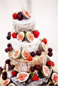originale wedding cake con fichi freschi foto by kimhawkins