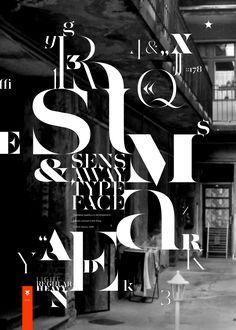 Sensaway typeface by Áron Jancsó, via Behance