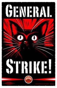 General Strike poster, art by Eric Drooker.