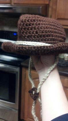 Crochet cowboy hat for a baby